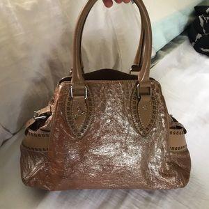 FENDI camel & Silver shimmer DU JOUR bag